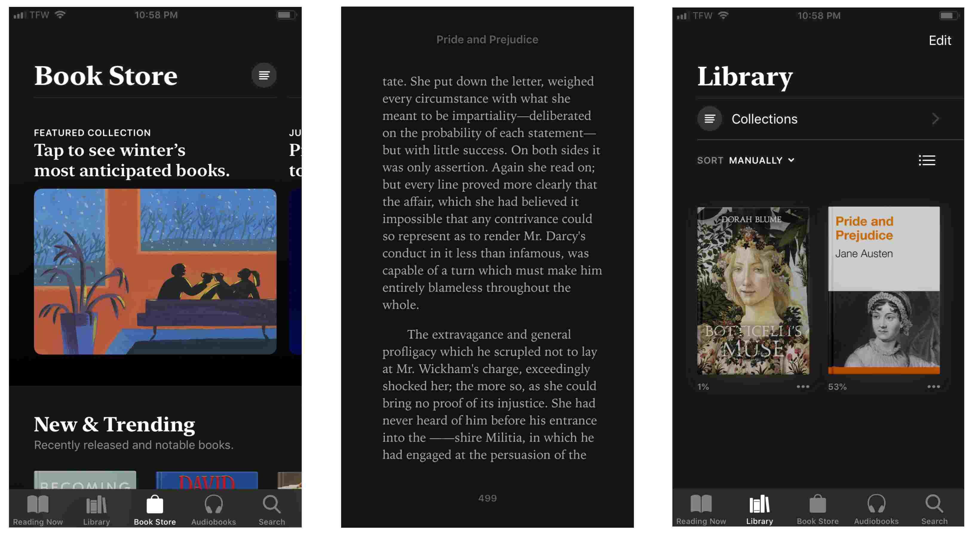 Screenshot of Auto-Night mode on iPhone