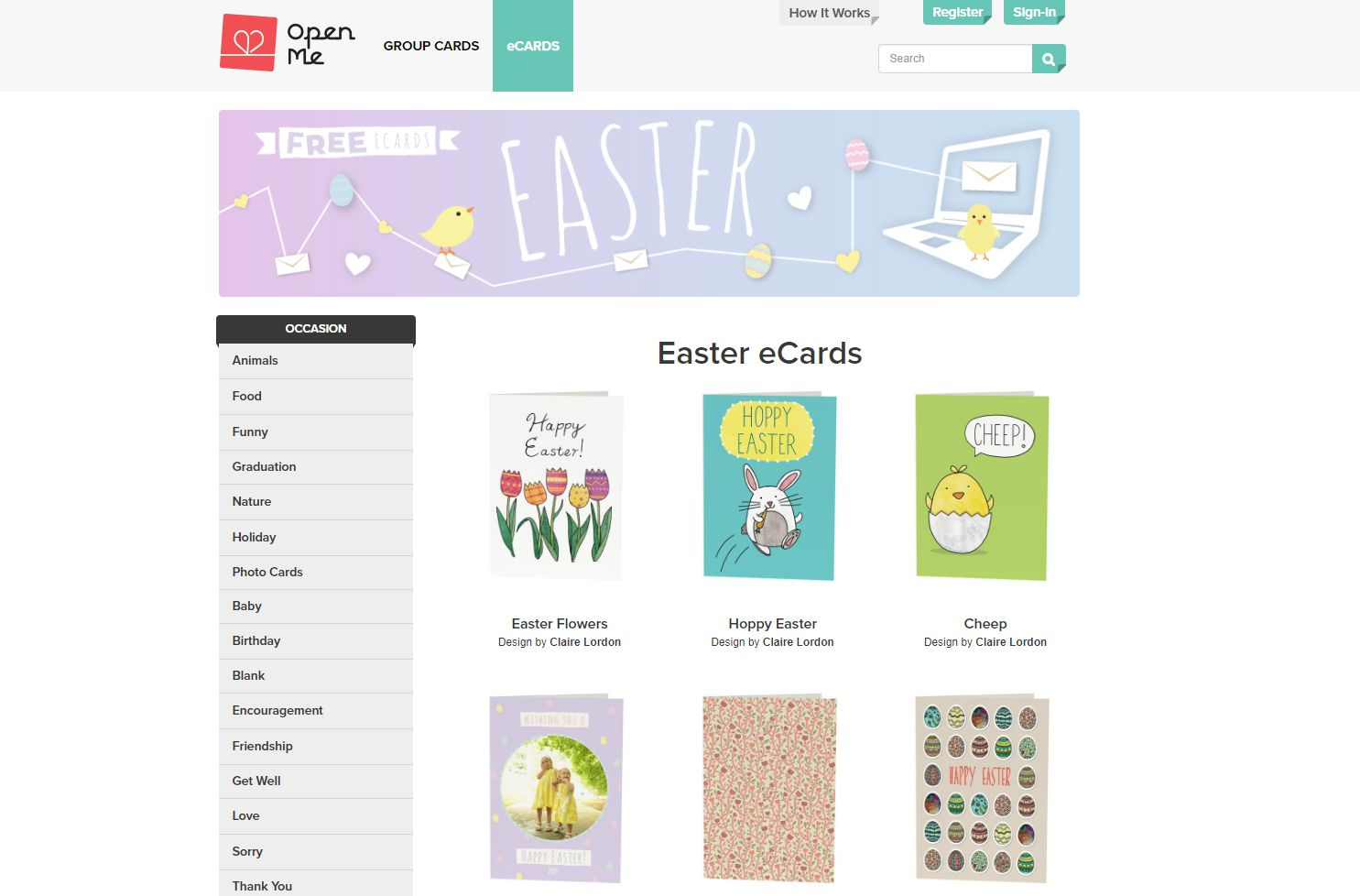 Open Mes Free Easter Ecards