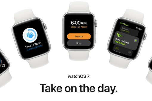 Assortment of Apple Watches with watchOS 7