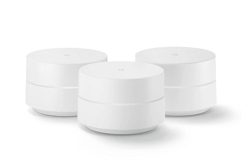 Three Google Wifi mesh points