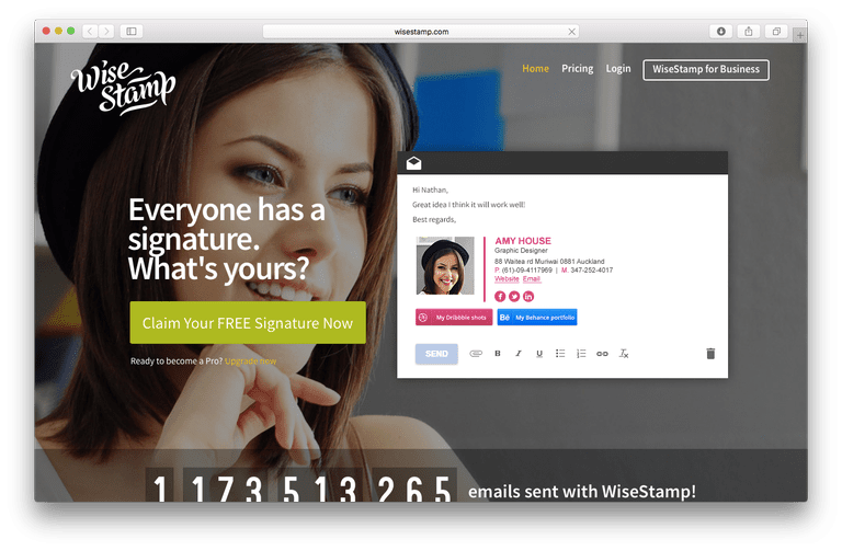 wisestamp email signature service review