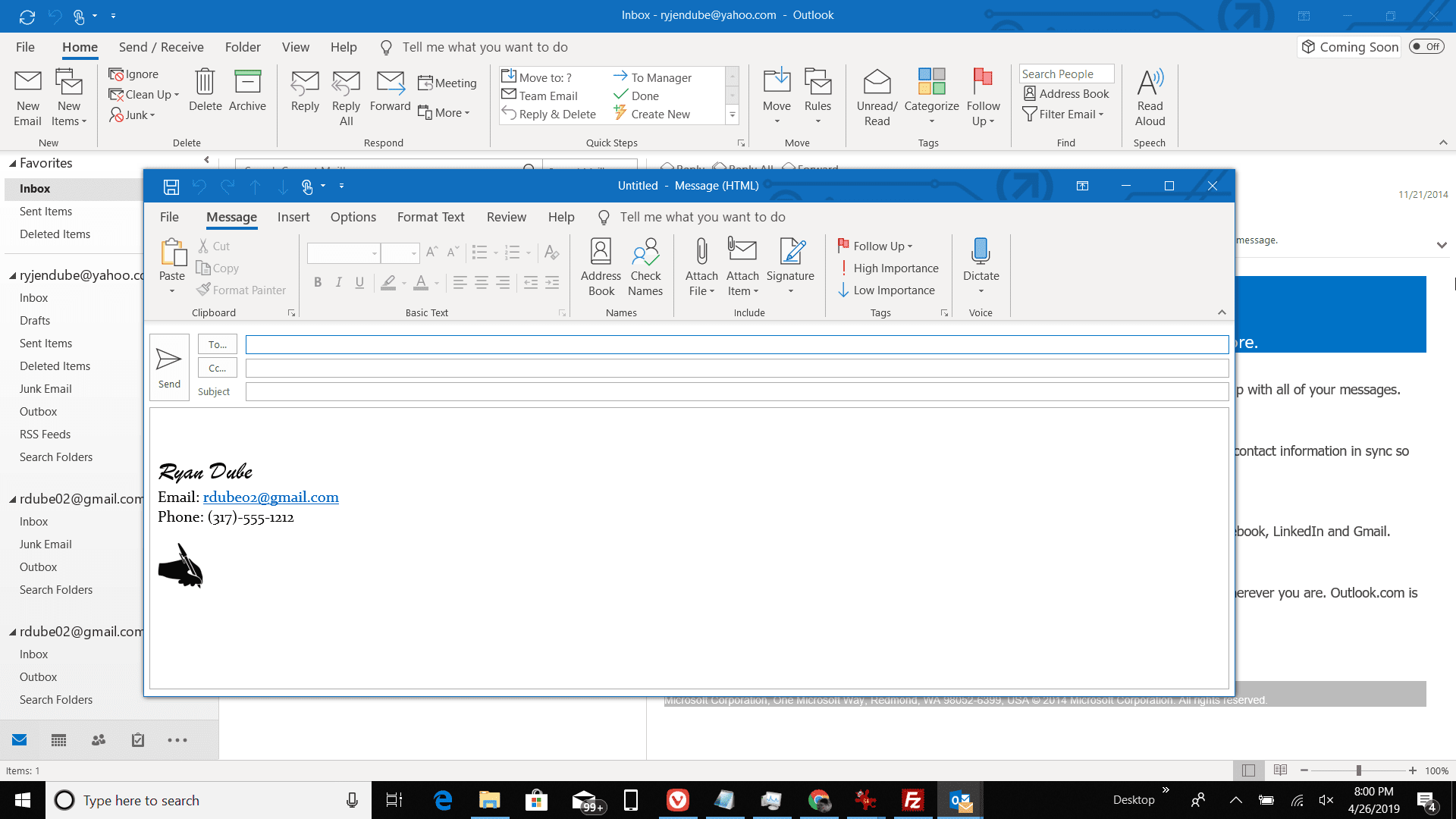 Create Attachments Using Drag and Drop in Outlook