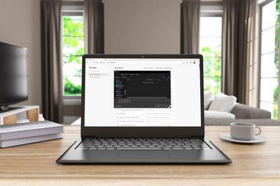 Backing up Microsoft Edge favorites on a laptop.