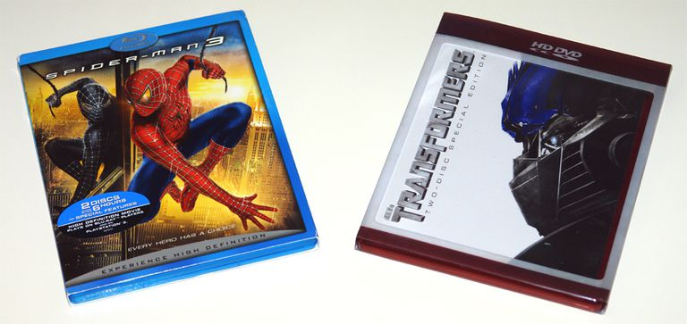Spiderman 3 Blu-ray Disc vs Transformers HD-DVD
