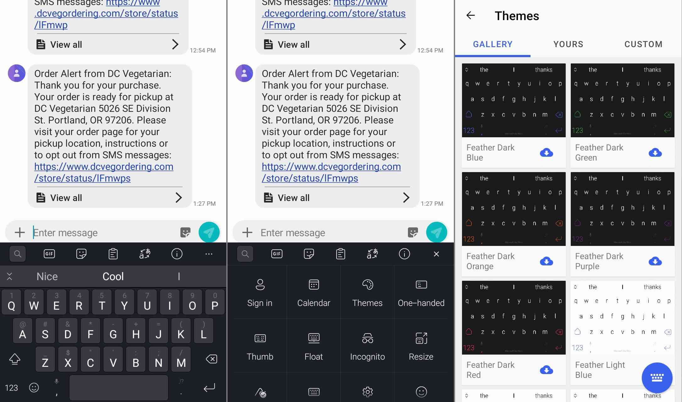 Swiftkey keyboard app for Android