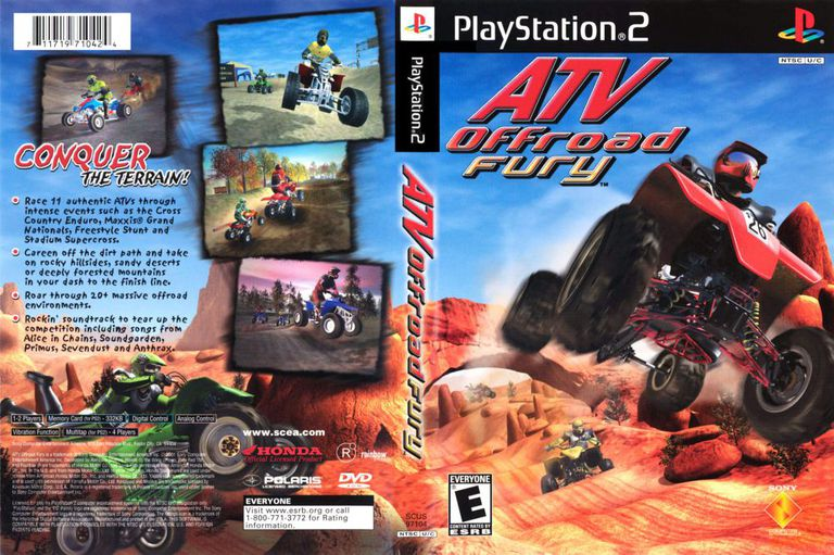 ATV Offroad Fury box art for PlayStation 2