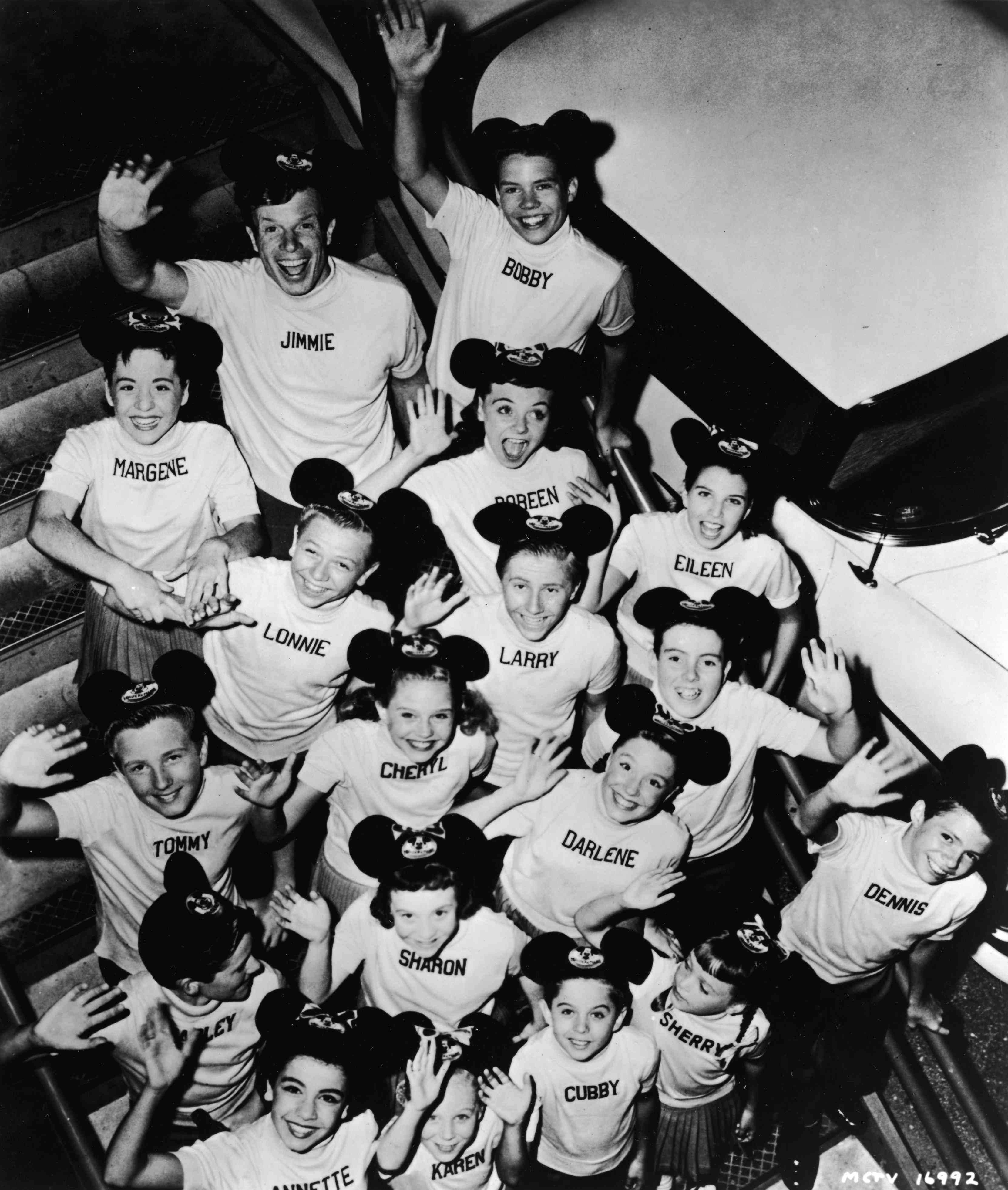 portrait of cast members of The Micky Mouse Club' television show, c. 1957