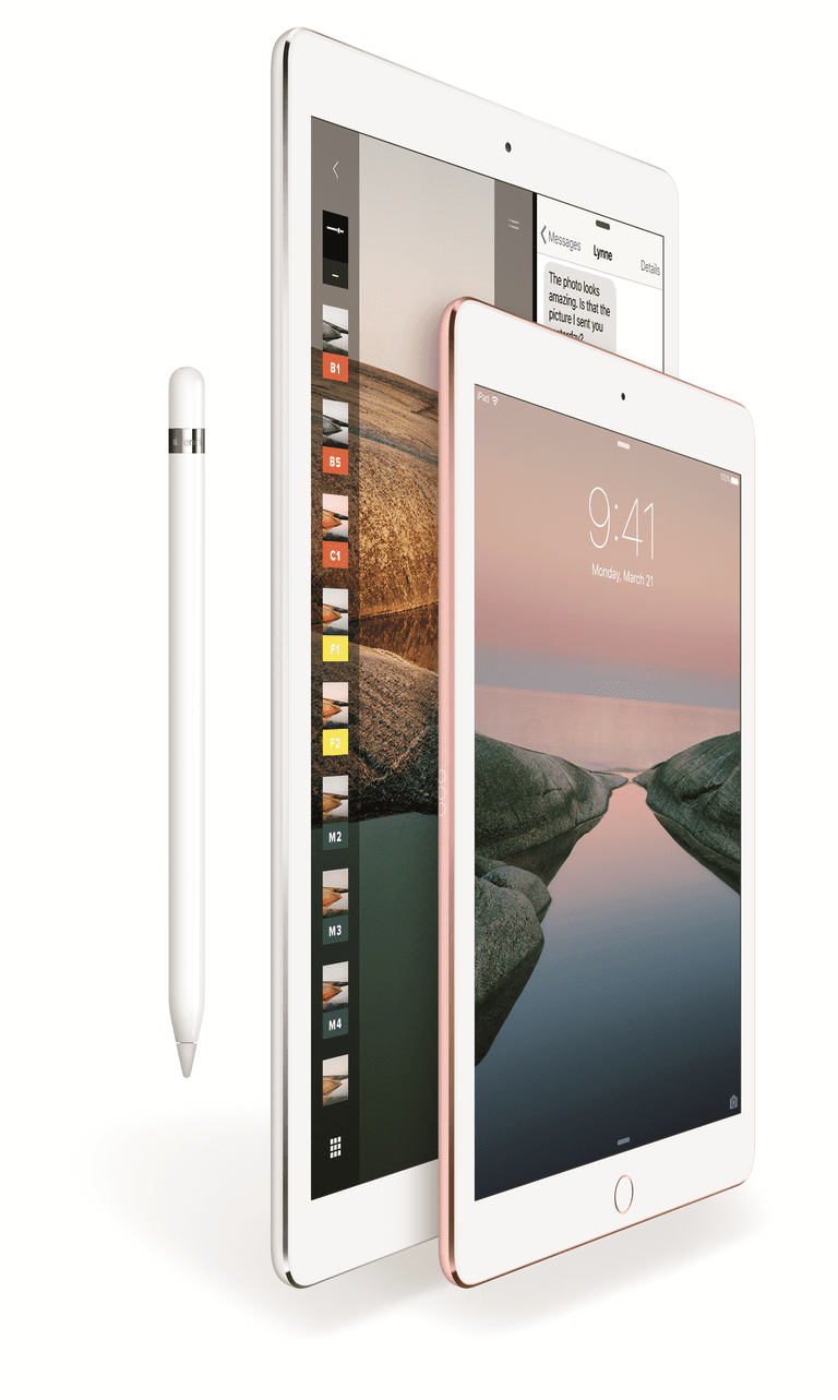 The 12.9-inch and 9.7-inch iPad Pro