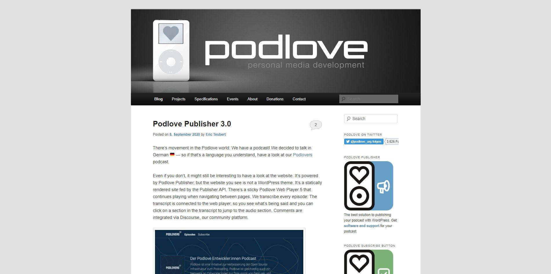 Podlove website.