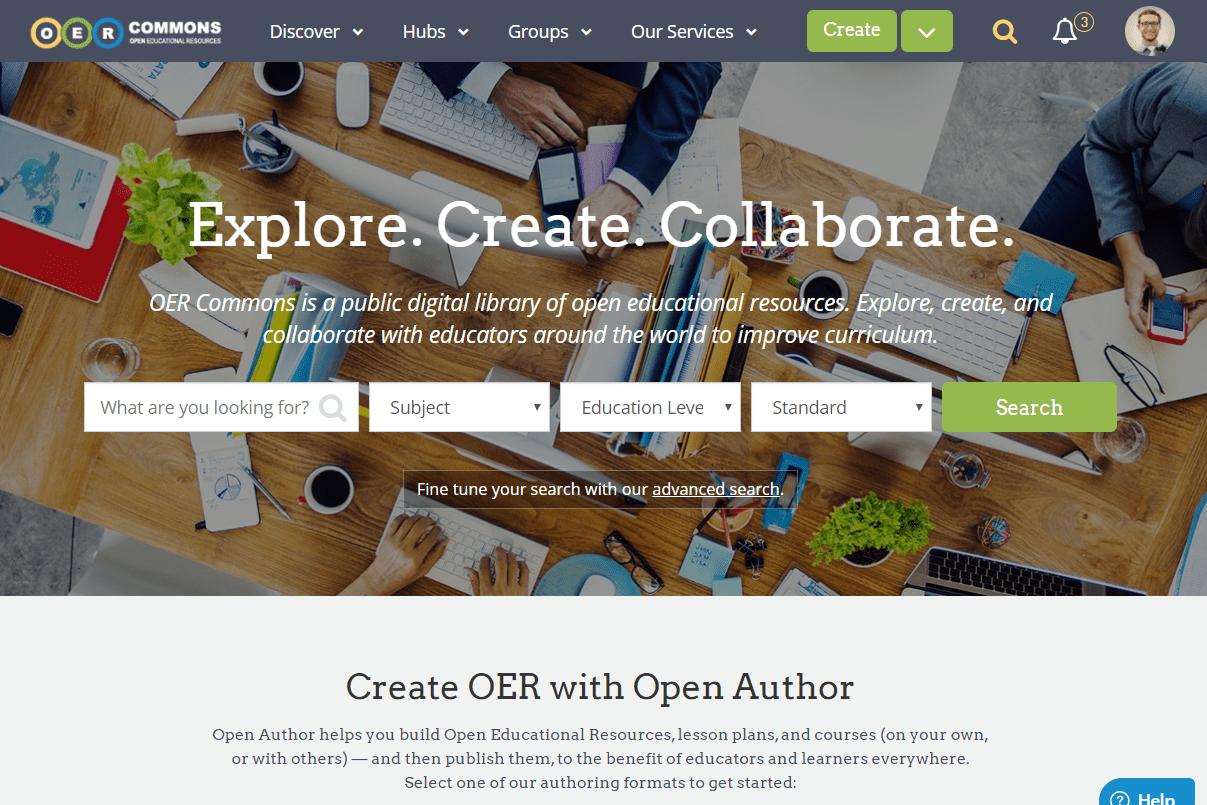 OER Commons website