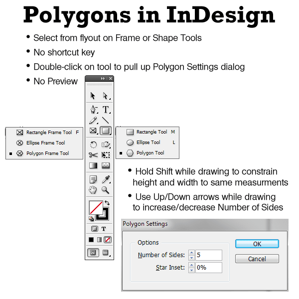 Drawing Polygons And Stars In Indesign