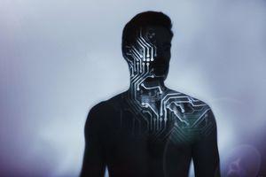 Portrait with digital manipulation