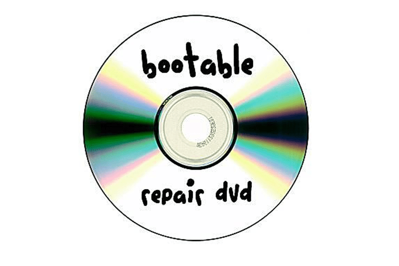 Picture of a CD that reads bootable repair DVD