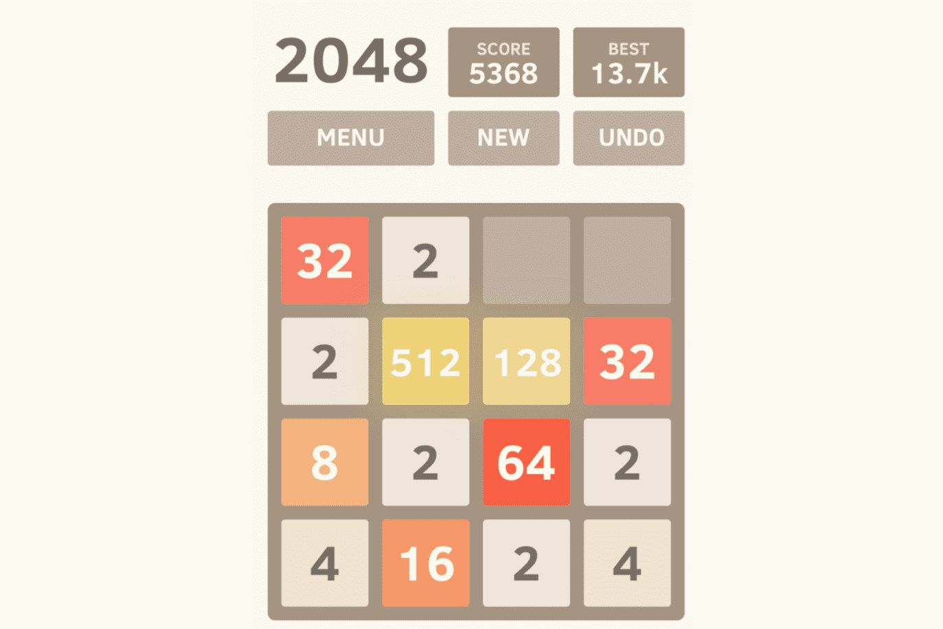 2048 by Gabriele Cirulli game for Android