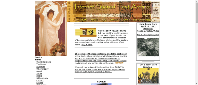 20 best sites to download free books sacred texts contains the webs largest collection of free books about religion mythology folklore and the esoteric in general ccuart Choice Image