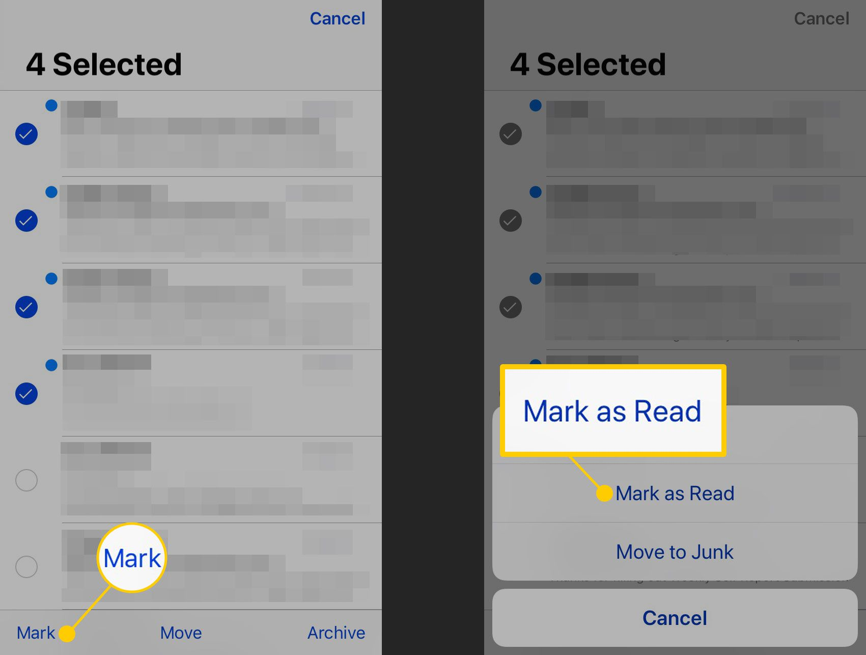 How to Mark Emails as Read or Unread on iPhone