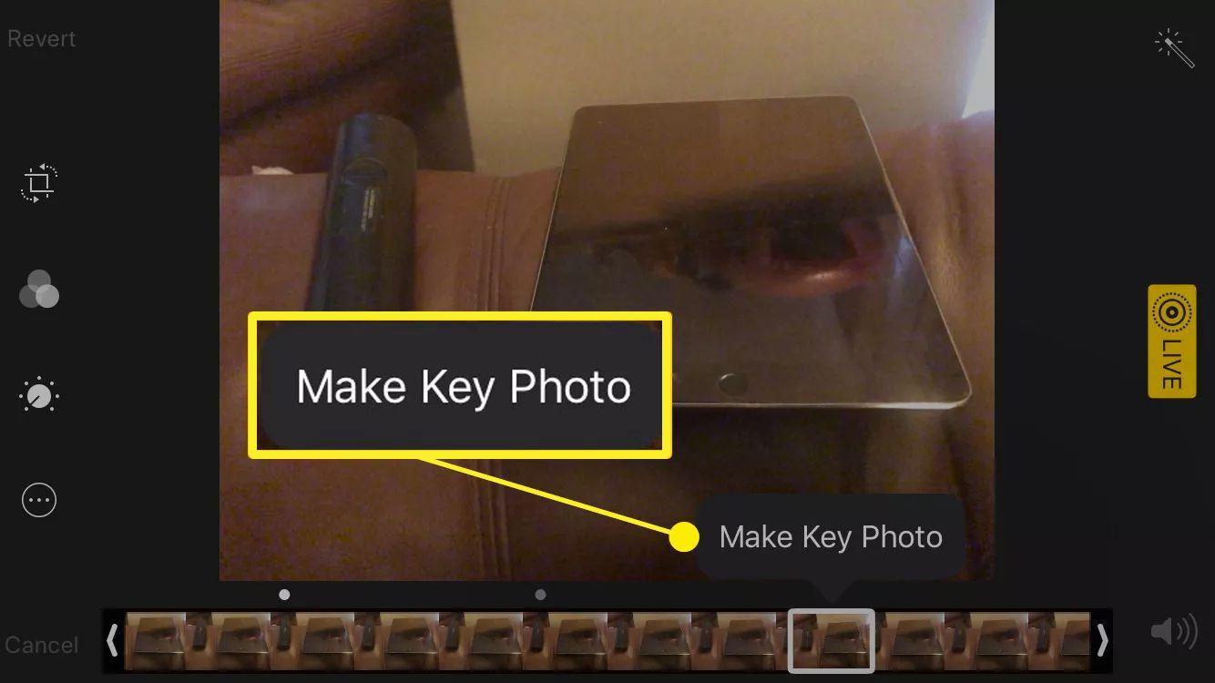 Key Photo selection in iPad Camera app