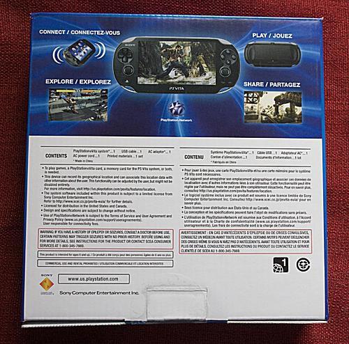 PS Vita Box Back