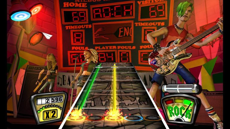Screen capture from Guitar Hero Encore: Rocks the 80s