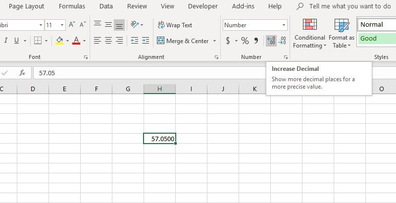 Increase And Decrease Decimal Buttons In Excel