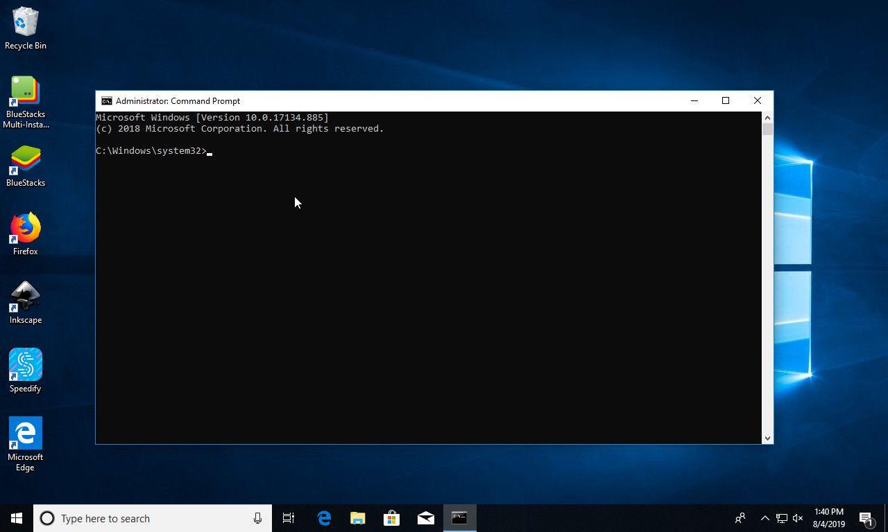 Windows 10 Admin Command Prompt