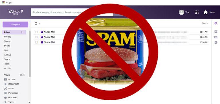 Yahoo Mail no Spam