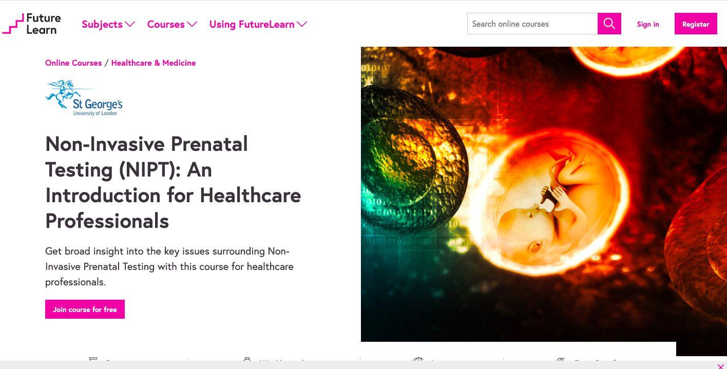 FutureLearn course listing on