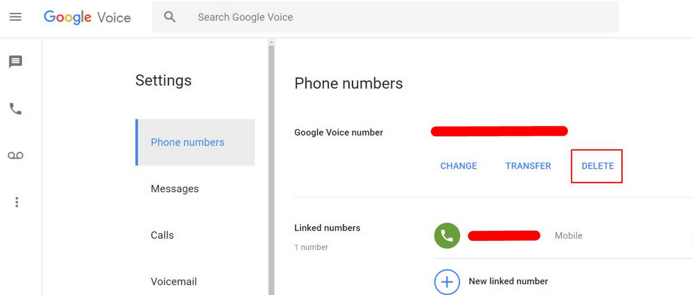 How to Delete Google Voice