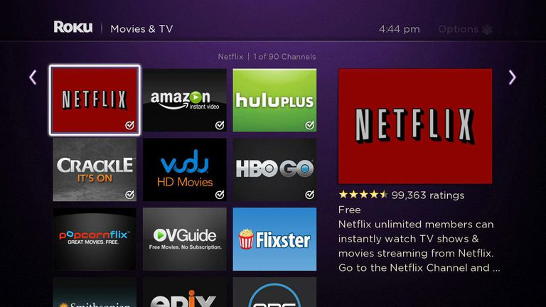 Roku 3 User Interface
