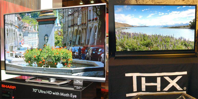 Sharp 4K ULtraHD TV with Moth Eye Tech and Sharp Purious THX 4K Ultra HD TV at CES 2013