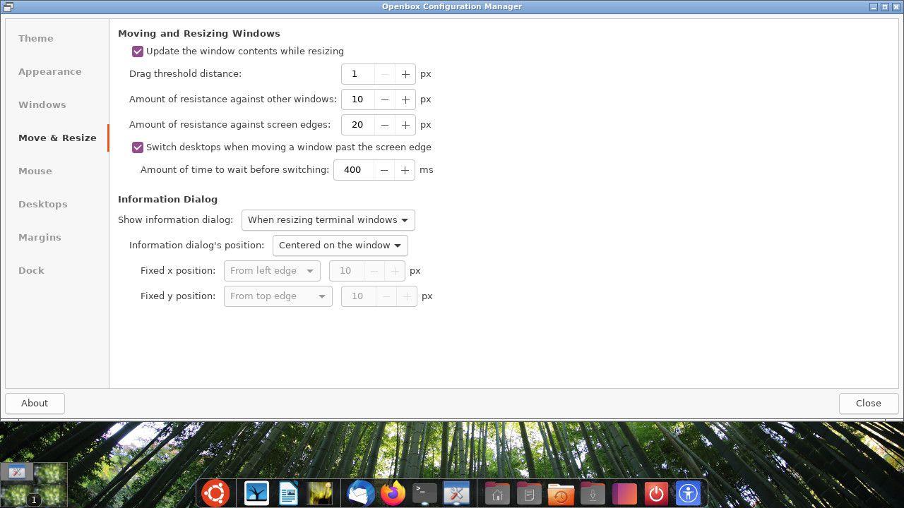 Ubuntu Openbox move settings