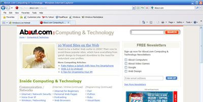 ie8 browsing history