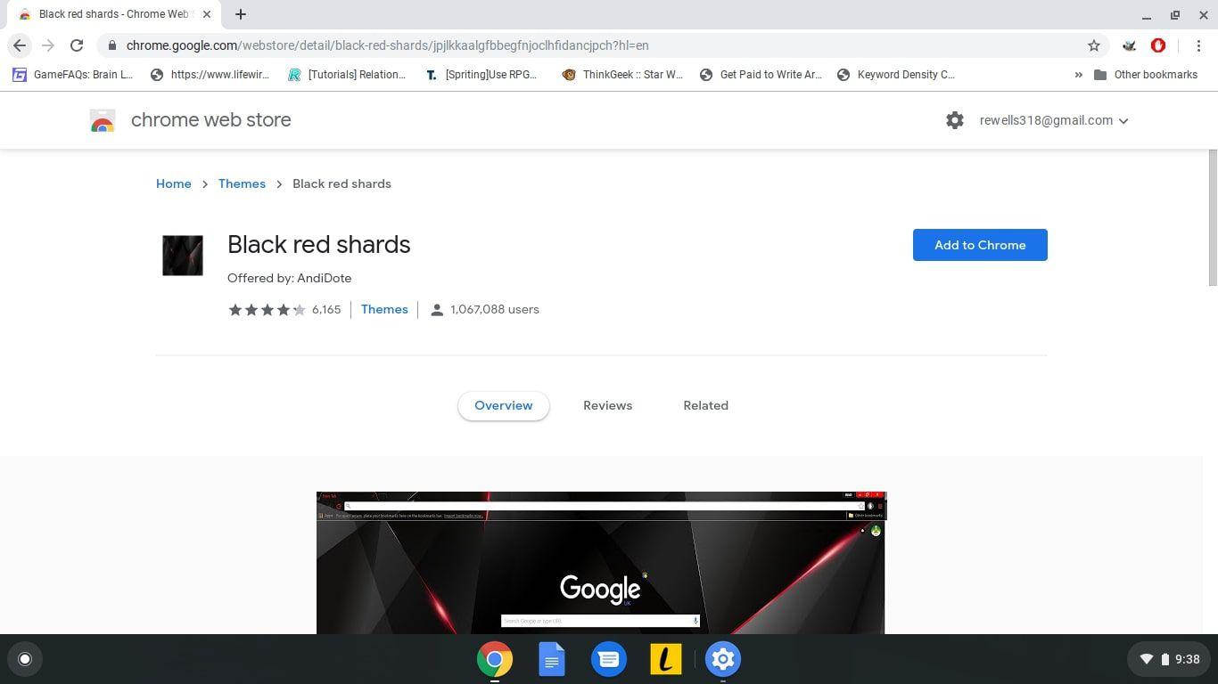 Theme on Your Google Chromebook