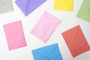 Multiple-colored envelopes