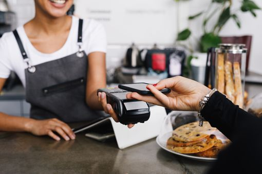 iPhone being used to make a mobile payment