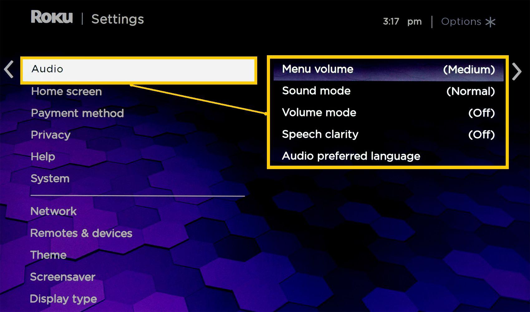 Roku Soundbar – Sound Settings