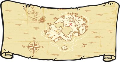 Treasure Map Scroll