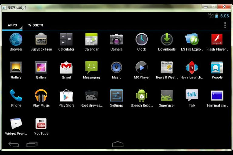 Screenshot of Jar of Beans Android Emulator