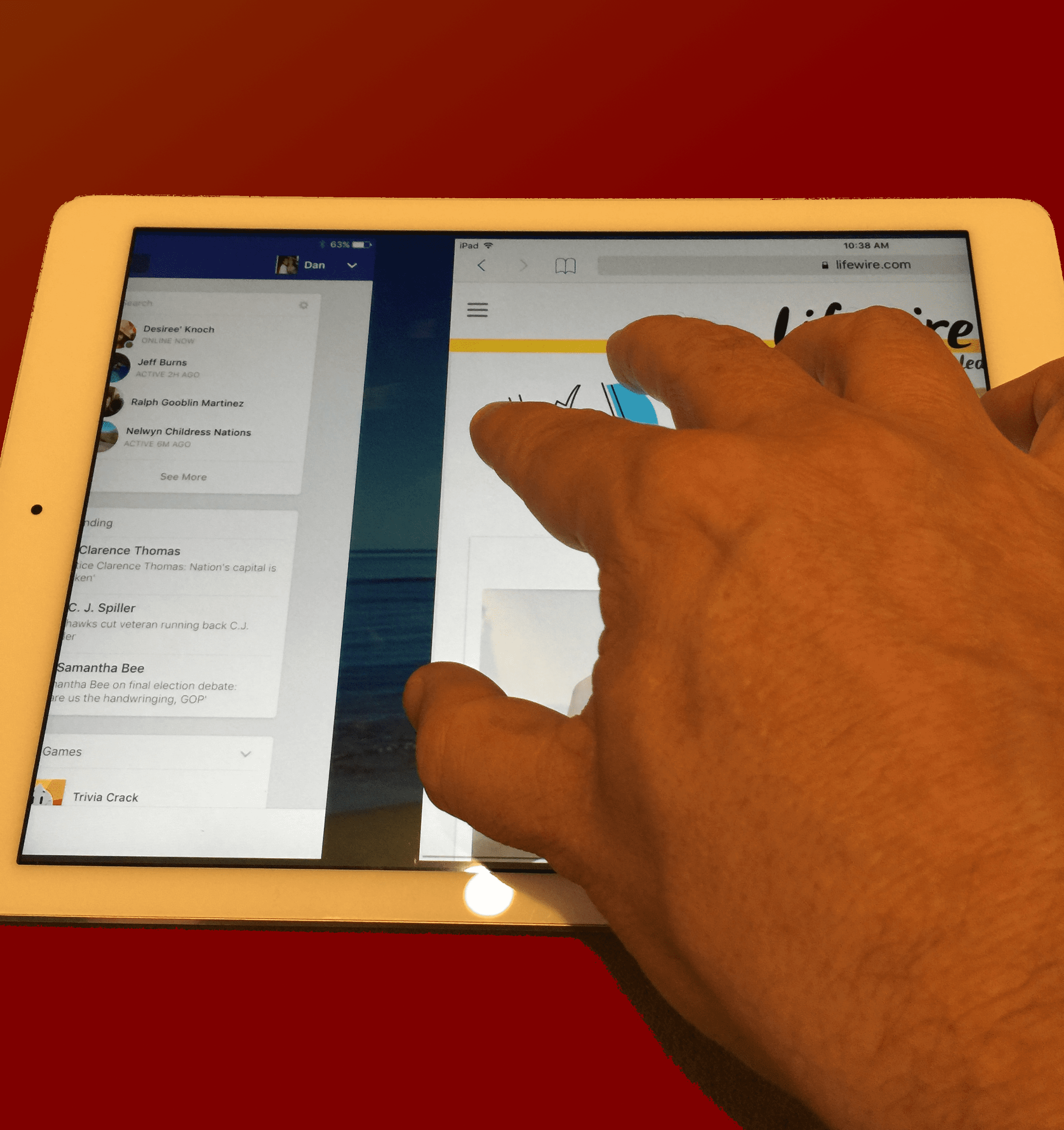 how to use multitasking gestures on the ipad