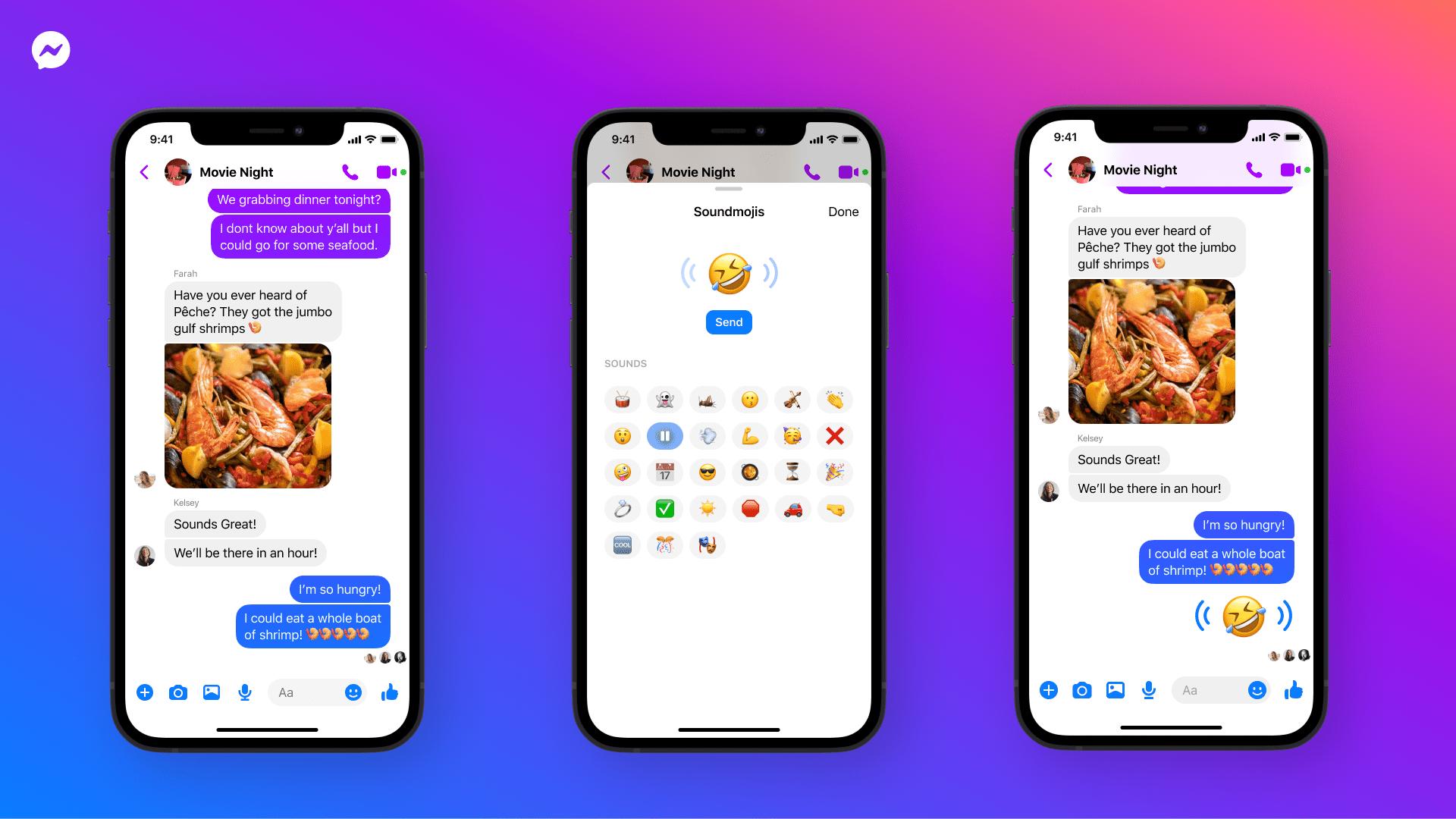 facebook soundmoji in messenger app on iOS