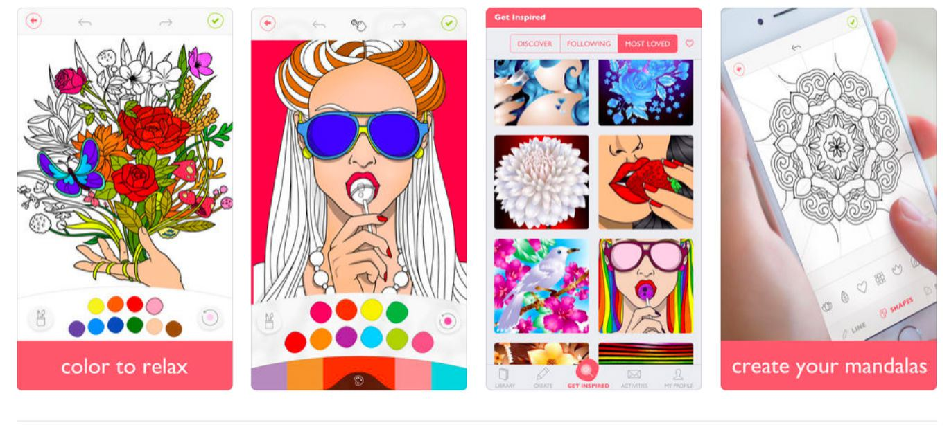 A screenshot of the colorfy app shown on iphone