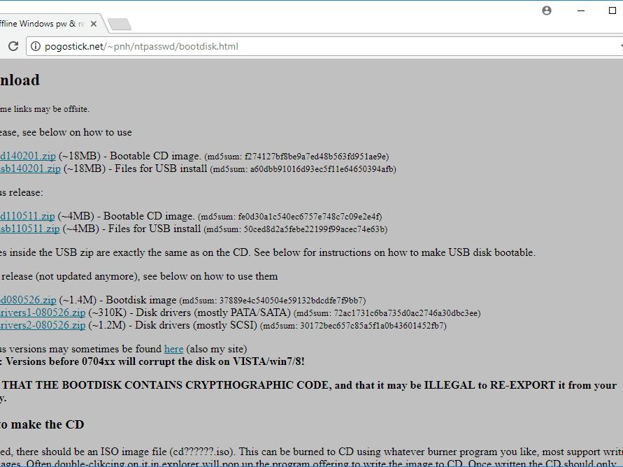 Remove Passwords Using Offline NT Registry Editor