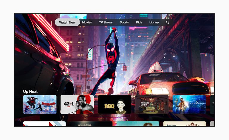 The Apple TV app showing Into the Spiderverse.