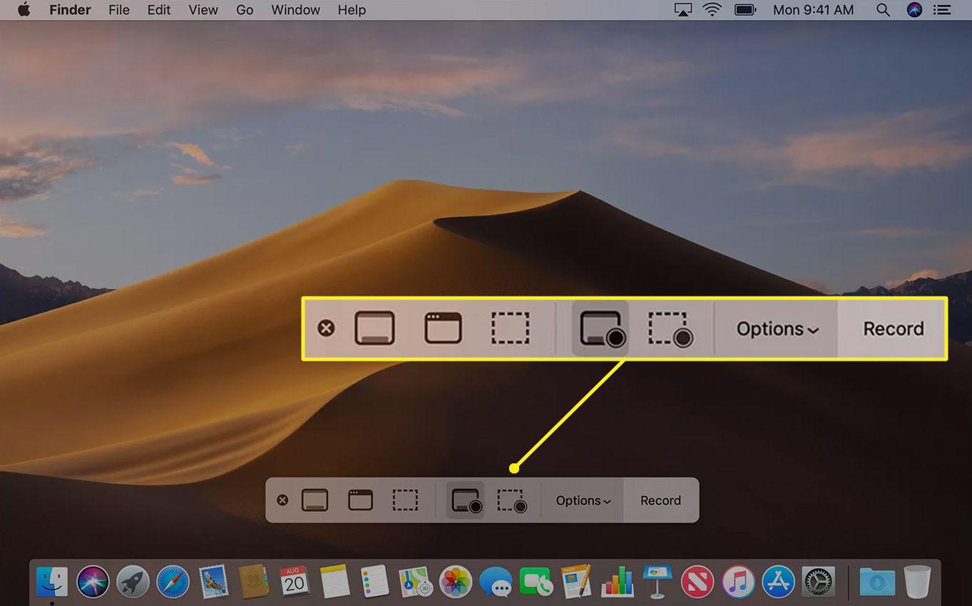 Mac screen recording toolbar