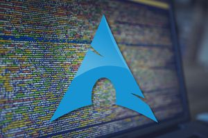 The Arch Linux logo.