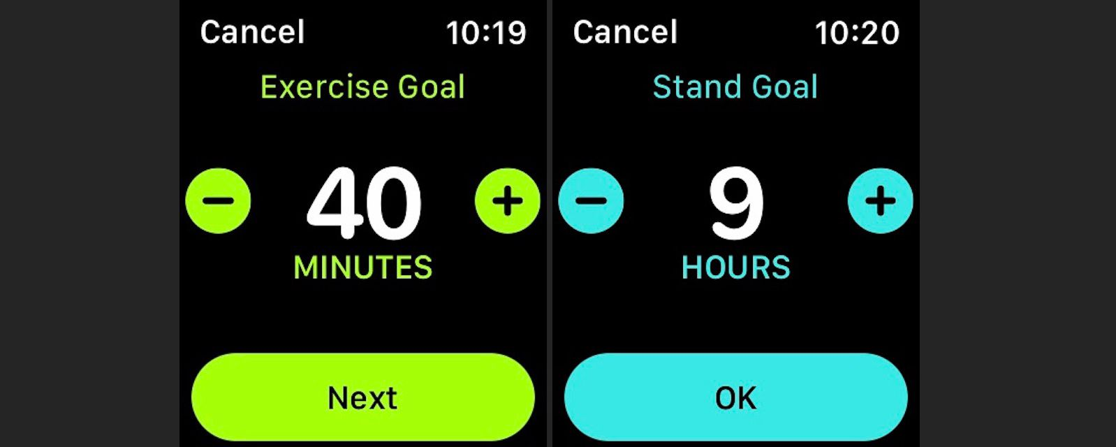 Change your Exercise and Stand Goals on Apple Watch with the Activity app