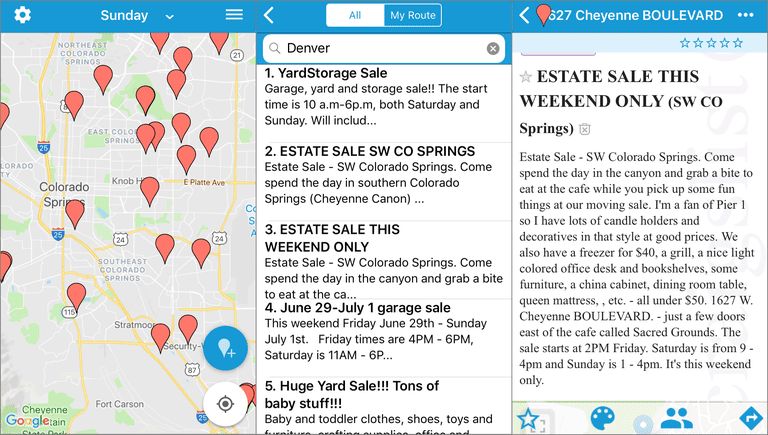 Online Ways To Find Nearby Garage Sales - Garage sale treasure map