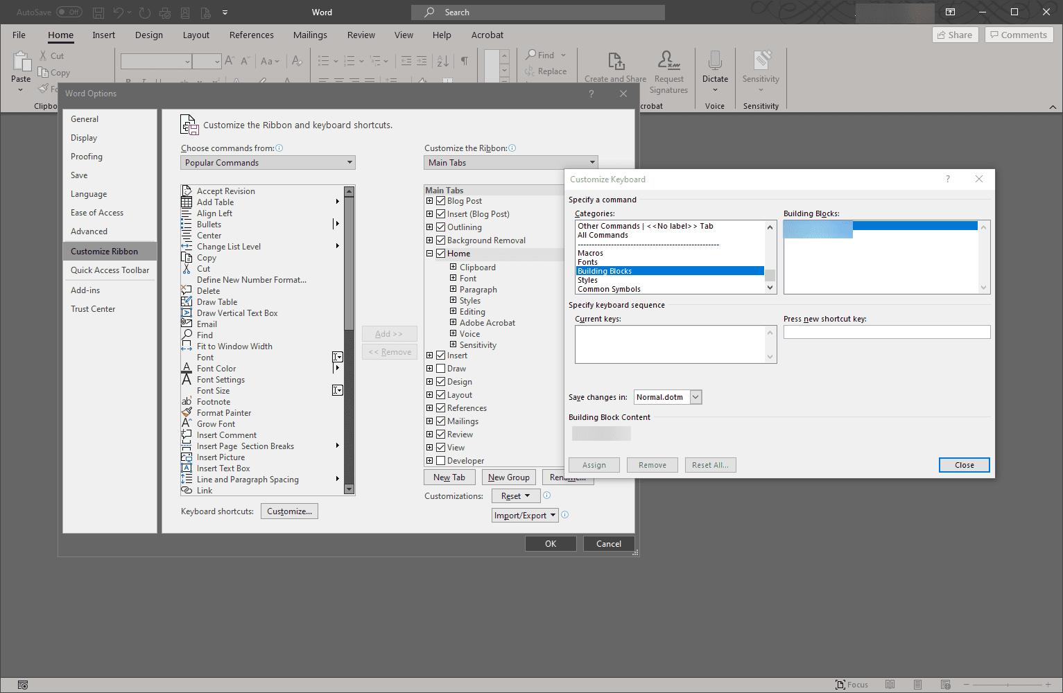 Auto Text shortcut