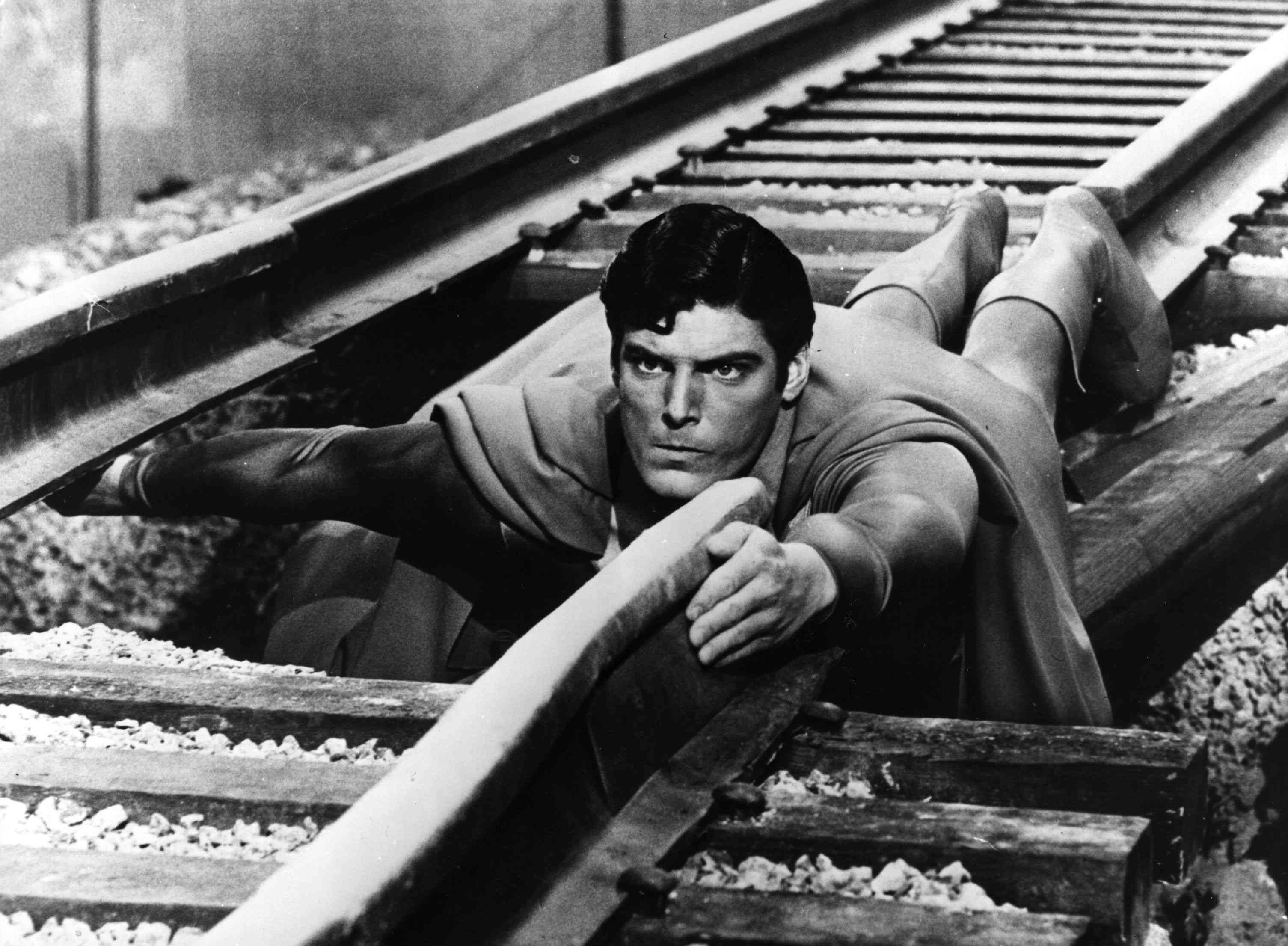 Christopher Reeve as Superman in Superman: The Movie