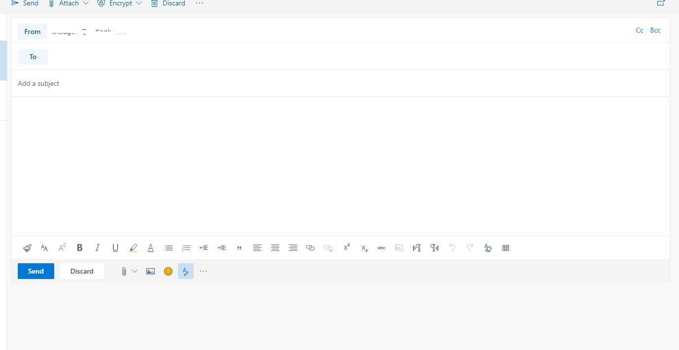 Outlook compose window